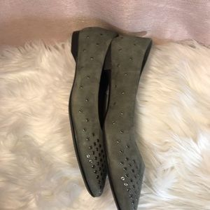 Agl Shoes - AGL Suede Leather Grommet Ballet Flats.  Size 9.